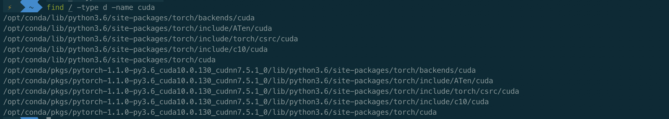 Where cuda install in docker which I pull from docker hub