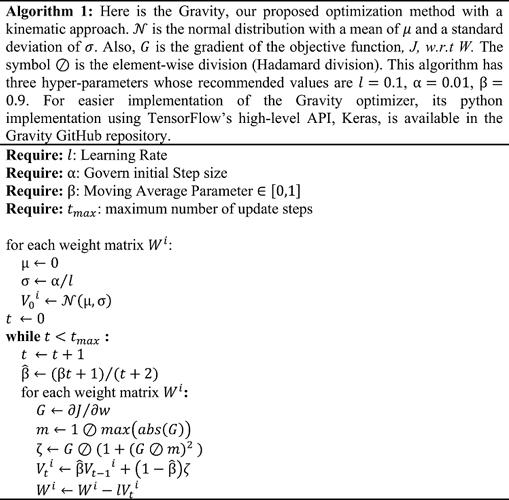 Gravity Optimizer - Algorithm - Readme version