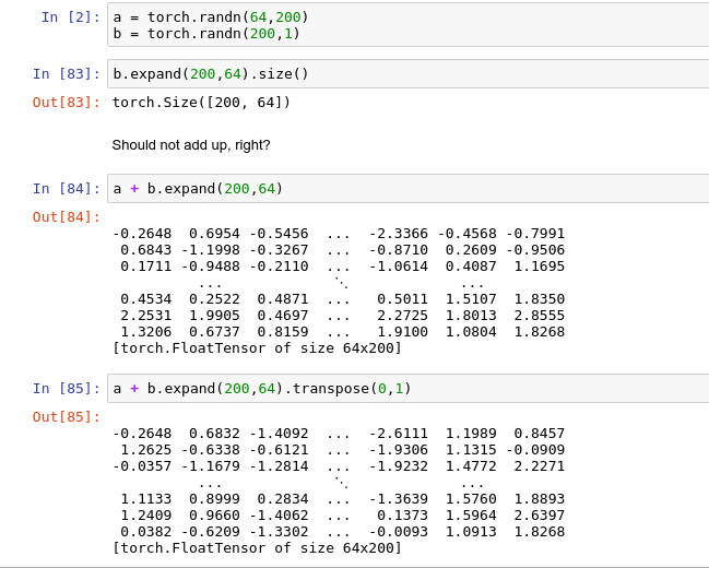 Backward size mismatch error when adding the bias term