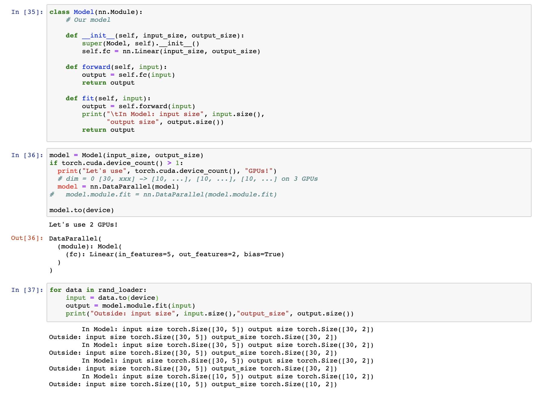 DataParallel doesn't work when calling model module
