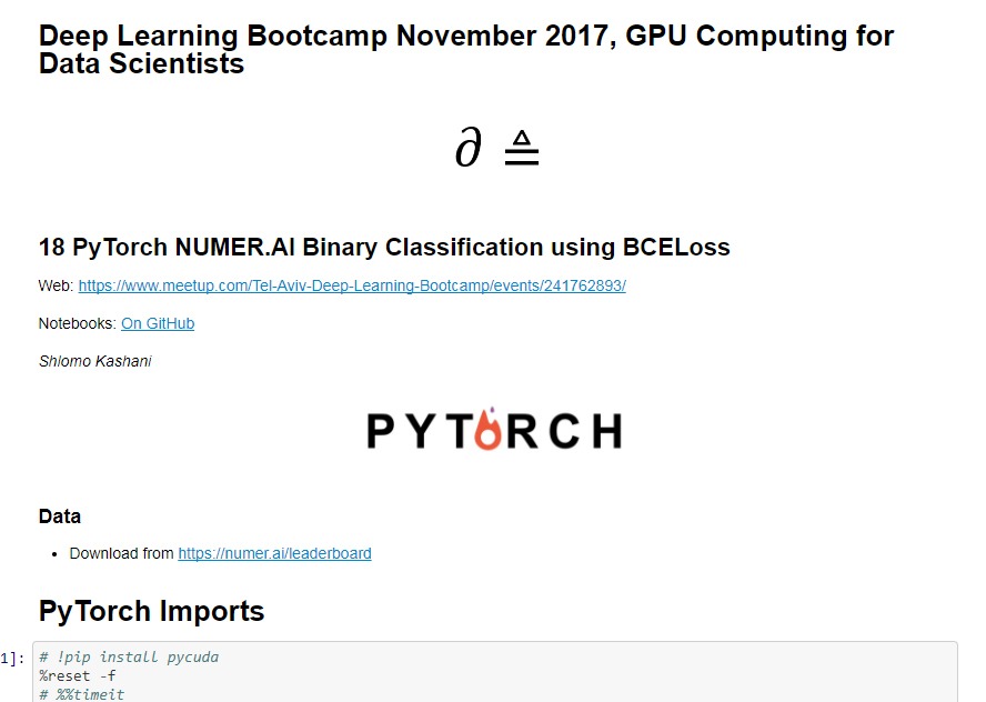 My extensive tutorial: PyTorch NUMER AI Binary Classification using