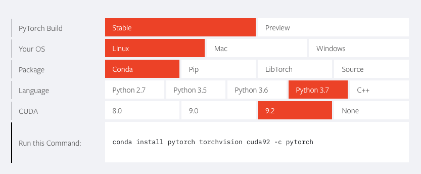Install pytorch in linux ubuntu 18 - PyTorch Forums