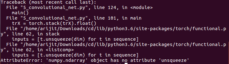 Converting the List of numpy image into torch tensor - PyTorch Forums