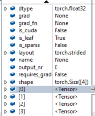 Visual studio debugger can't watch tensor value in  0 4 0