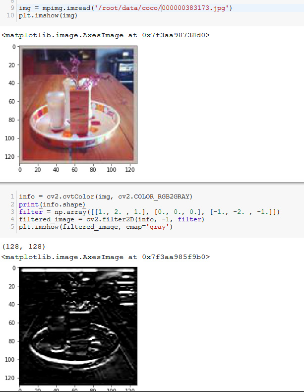 Convolution on single image with 3x3 filter - vision